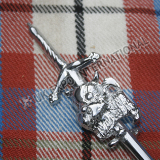 TERRIER DOG scottish sword kilt pin