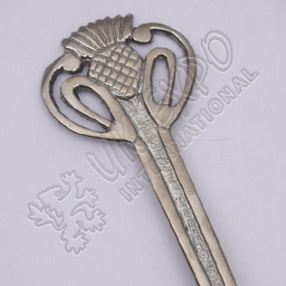 Thistle Shiny Antique Kilt Pin