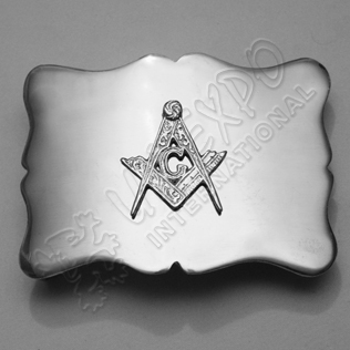 Wavey Masonic Buckle