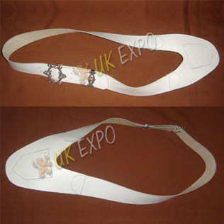 White Flag Pole Belt with New Buckle set