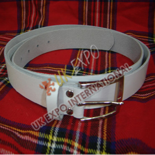 White Waist Belt 2inch Wide
